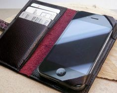 Red Leather iPhone Case Wallet