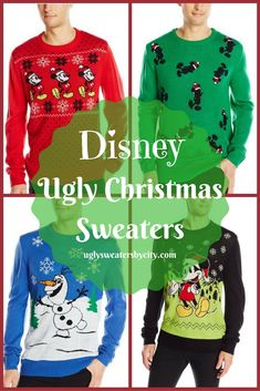 Disney Character Ugly Christmas Sweaters