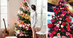 People Are Decorating Their Christmas Trees With Flowers And The Results Are Beautiful | Bored Panda