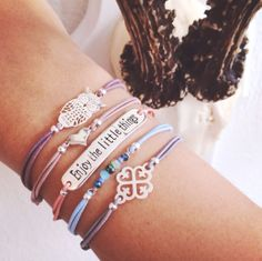 Enjoy the little things in live♡ | 4EVERWITHEVERYONE | New armcandy, silver, pastel colors, beads, armparty, amsterdam, shopping
