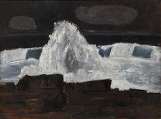 """Evening Storm, Schoodic, Maine,"" Marsden Hartley, 1942, oil on Masonite, 30 × 40"", Museum of Modern Art."