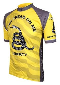 Don't Tread on Me Mens Cycling Jersey Large - http://ridingjerseys.com/dont-tread-on-me-mens-cycling-jersey-large/