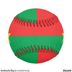 Burkinabe flag baseballs