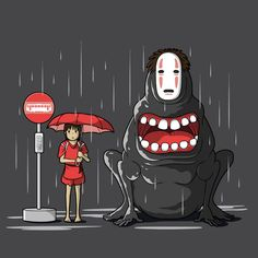 Totoro and Spirited away crossover. OMG this is epic