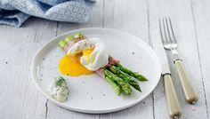 Grüner Spargel mit Beinschinken und pochiertem Ei Eggs, Breakfast, Kitchen, Food, Egg Benedict, Hams, Fresh, Morning Coffee, Cooking