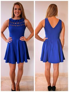 Royal blue dress w/ cut outs
