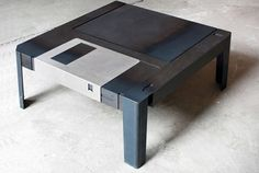 """Floppy disk table"" You need to be a certain age to appreciate this."