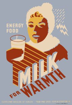 From the Cleveland Division of Health in 1941 promoting milk as an energy food.