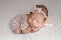 Newborn Photo Prop, Baby Girl Outfit, Lace Romper, Newborn Romper, Newborn Props, Newborn Bloomers, Lace Newborn Romper, Pink Romper, Outfit