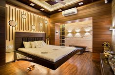 MASTER BEDROOM DESIGN BY :- RAZA DECOR Bed Headboard Design, Bedroom Door Design, Bedroom False Ceiling Design, Master Bedroom Interior, Bedroom Furniture Design, Modern Bedroom Design, Room Interior Design, Modern Room, Luxurious Bedrooms