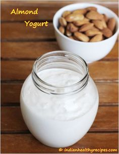 Top Delicious Homemade Vegan Yogurt Recipes Top Inspired - Top Delicious Homemade Vegan Yogurt Recipes January Food Drink If You Have Problems With Your Digestion One Of The Best Things You Can Consume Is The Plain Old Yogurt Yogurt Recipes, Almond Recipes, Dairy Free Recipes, Vegan Recipes, Cooking Recipes, Almond Milk Yogurt, Vegan Yogurt, Siggis Yogurt, Healthy Yogurt