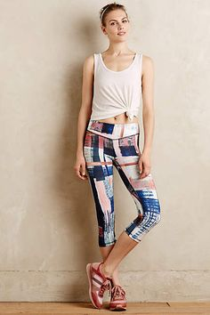 Anthropologie EU Pure + Good Brushed Tartan Capris. Every detail of a Pure + Good garment is designed with luxury and meticulous attention to detail in mind. These classic capris, cast in a painterly tartan motif, are no exception