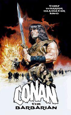 Conan THE Barbarian Movie Poster Rare Arnold Schwarzenegger   eBay