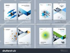 brochure design cover modern layout annual report poster flyer in with colourful triangles geometric shapes for tech science market with light background. Template Brochure, Brochure Layout, Layout Template, Brochure Design, Templates, Flyer Layout, Page Layout Design, Book Layout, Maquette Site Web