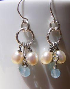 pearl circle earings