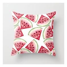Watermelon Pattern Throw Pillow ($20) ❤ liked on Polyvore featuring home, home decor, throw pillows, abstract throw pillows and patterned throw pillows
