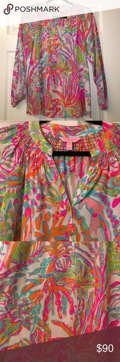 Lilly Pulitzer Elsa top small scuba to Cuba Scuba to Cuba. Size small. Great condition. Worn once. Elsa top. No trades. Lilly Pulitzer Tops Blouses