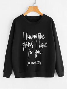 ed24d9f8af0b8 ROMWE Black Letter Sweatshirt Slogan Print Women Casual Long Sleeve  Pullover 2017 Autumn Fashion Brief O Neck Basic Sweatshirt