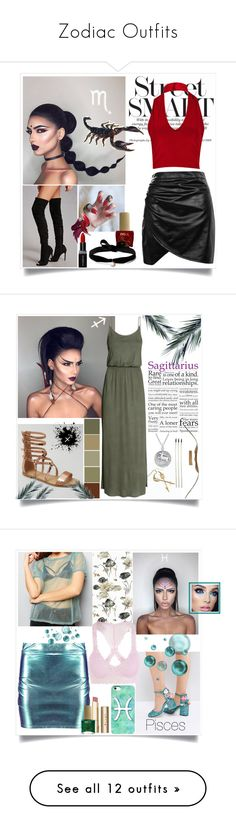 """""""Zodiac Outfits"""" by jordanbirnie ❤ liked on Polyvore featuring Boohoo, Forever 21, ncLA, Smashbox, Aamaya by Priyanka, New Look, H&M, Bling Jewelry, Stila and ASOS"""
