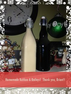 Homemade Kahlua & Baileys