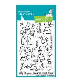 "Lawn Fawn Clear Stamps 4""X6""-Critters Ever After"