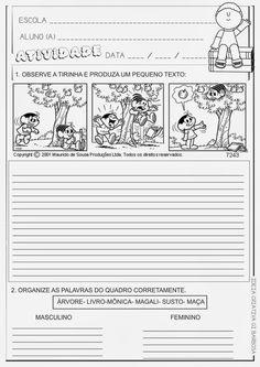 Educar X: Produção de texto turma da mônica