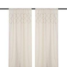 Taupe Quatrefoil Curtain Panel Set, 96 in.   Kirklands