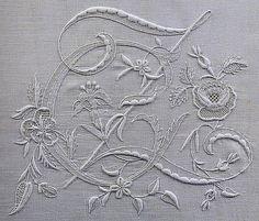 Embroidered monogram, via Flickr.