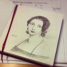 Today's drawing. #drawing #pencil #sketchbook #ClaraSchumann