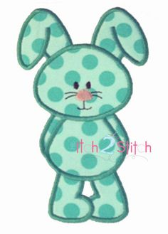 Bunny3 applique design for machine embroidery by TheItch2Stitch, $4.00