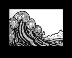 Droog 79 Wave Art, Surf Art, Surfing, Sketches, Drawings, Illustration, Nature, Painting, Inspiration
