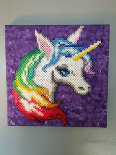 Unicorn Perler Bead Wall Art