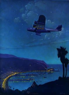 """Flying Over Avalon"" by Ruehl Frederick Heckman (1890-1942)"