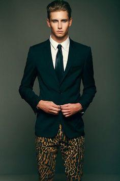 Mens leopard pants