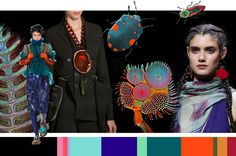 Fluor Nature: glimmende materialen, fluorescerent effect, natuurlijke elementen, futurisme, zwart als contrastkleur