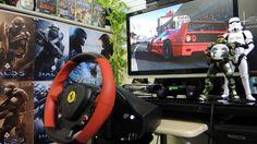 [27] Xbox One Forza 6  Thrustmaster Ferrari 458 Spider Racing Wheel Game...