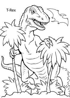 Artistic Coloring Pages Dinosaurs Printable   Novaukraina