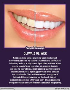 Wybiel zęby oliwą z oliwek. Beauty Care, Diy Beauty, Beauty Hacks, Healthy Beauty, Health And Beauty, Face Care, Body Care, Home Spa, Natural Cosmetics