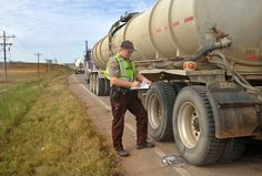 Trucks going in and out of the Bakken oil fields can be as much as 25,000 pounds overloaded. They are dangerously heavy and a lack of police enforcement means most stay on the highways.
