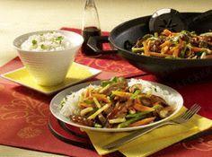 Das Rezept für Asiatische Reispfanne mit Rindfleisch und weitere kostenlose Rezepte auf LECKER.de
