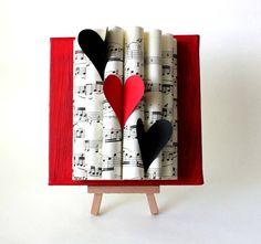 Valentine's Day Decor Sheet Music Art Heart by yinsteadofi on Etsy, $18.00