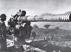 German 88 mm Flak Gun with 44 'Victory Rings' rings.