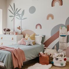 The beautiful Wren Abstract Wallpaper Mural is one of my favourites. It makes the perfect story feature wall. Our wall murals are created to bring fun and creativity into your spaces. Baby Bedroom, Baby Room Decor, Nursery Room, Girls Bedroom, Bedroom Decor, Childs Bedroom, Dream Bedroom, Kids Room Design, Kids Bedroom Designs
