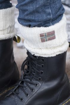 Barfota Love Norway strikket sokk, krem