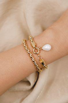 18K Gold Filled Pearl Bracelets