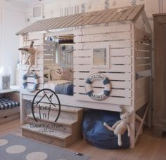the tiny white wood house -Oliver and Atticus...how awesome!