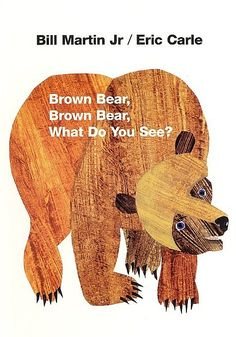 Mini book Brown bear d'Eric Carle en anglais.