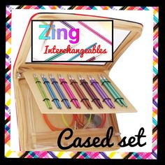 BRAND NEW! AUG 1st 2016- £40    DELUXE Cased Interchangeables Sets -& Top Ups colour Matched cables     NEW KnitPro ZING INTERCHANGEABLE DELUXE CASED SET   Circular Needles & Sets -colour Matched 3.5-8mm    Interchangeable Metal Circulars with coloured cables in a variety of lengths. Aluminium State of the Art    GET THEM FIRST!  Here you are buying on pre-order, committing to purchase  a cased set of these fabulous needles before anyone else has them! More info as it arrives!    *** DELUXE…