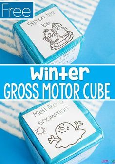 This winter themed gross motor brain break cube is sure to be a hit with the kids! A quick activity to get the kids moving during the cold winter months. Snow Activities, Motor Skills Activities, Movement Activities, Toddler Activities, Physical Activities, Winter Fun, Winter Theme, Thema Winter Im Kindergarten, Counting Puzzles