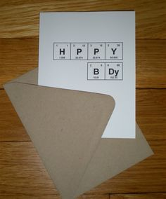 "Periodic Table of the Elements ""HPPY BDy"" Happy Birthday Card"